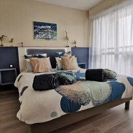 Chambre avec lit 160  - Location de vacances - Combrit