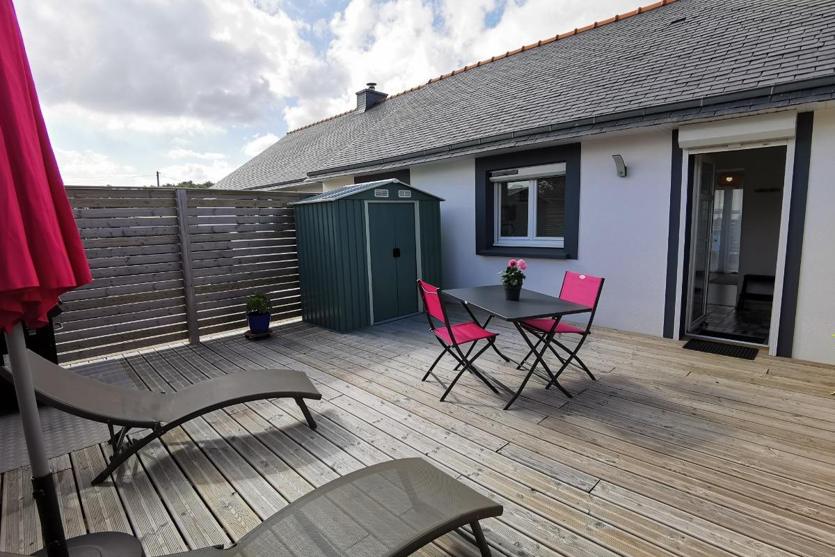accès de la maison par la terrasse arrière - Location de vacances - Santec