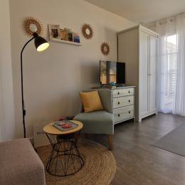 Espace salon dans chambre - Location de vacances - Santec