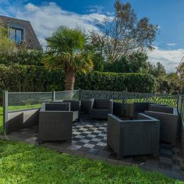 Salon avec TV, accès internet - Location de vacances - Île-Tudy