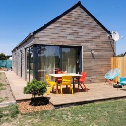 Maison en bois avec terrasse et espace jardin - Location de vacances - Porspoder