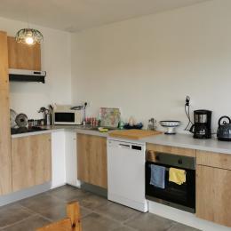 séjour -cuisine - Location de vacances - Plougoulm
