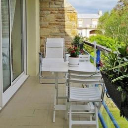 exposition sud/balcon. - Location de vacances - Roscoff