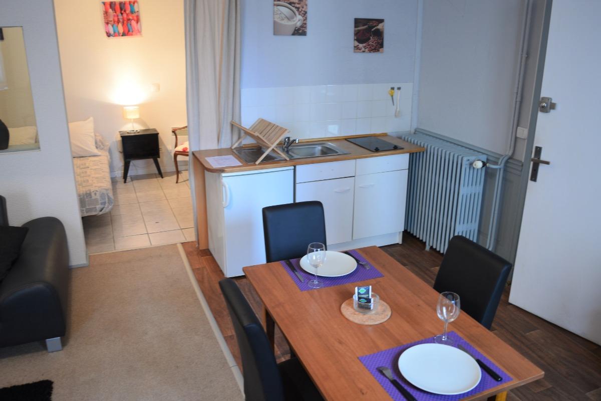 Résidence du Rhône et des Thermes - Studio n°1 location de meublés thermaux à Néris-les-Bains - Location de vacances - Néris-les-Bains