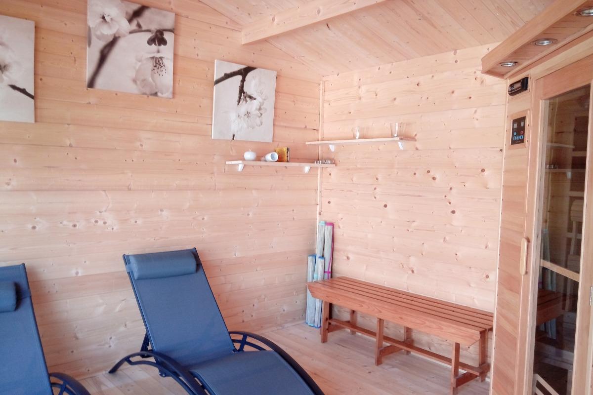 Gîte La Caille - Domaine Les Meuniers en Auvergne Espace sauna - Location de vacances - Malicorne