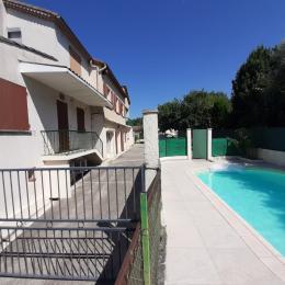 allée du jardin et du potager - Location de vacances - Lézan
