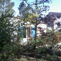 La terrasse et ses Mimosas - Location de vacances - Gagnières