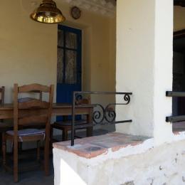 Terrasse couverte - Location de vacances - Gagnières