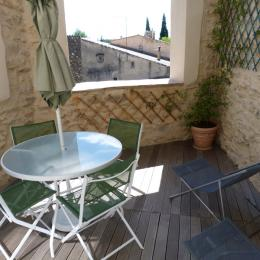 terrasse avec vue dégagée - Location de vacances - Saint-Bonnet-du-Gard