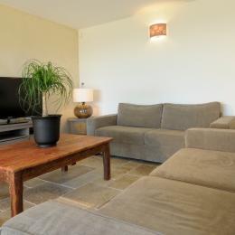 Salon ouvert sur salle à manger et terrasse - Location de vacances - Bagnols-sur-Cèze