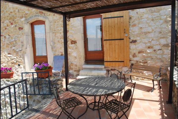 chambre terrasse privative - Chambre d'hôtes - Saint-Victor-la-Coste