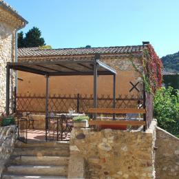 chambre terrasse - Chambre d'hôtes - Saint-Victor-la-Coste