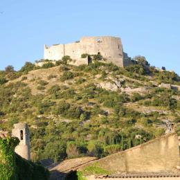 vue de la terrasse - Chambre d'hôtes - Saint-Victor-la-Coste