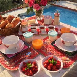 Petit déjeuner pour les amoureux  - Chambre d'hôtes - Bezouce