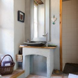 salle d'eau - Chambre d'hôtes - Saint-André-de-Valborgne