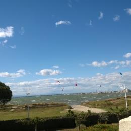 Vue depuis Balcon/Terrasse de la mer et des activités nautiques - Location de vacances - Le Grau-du-Roi