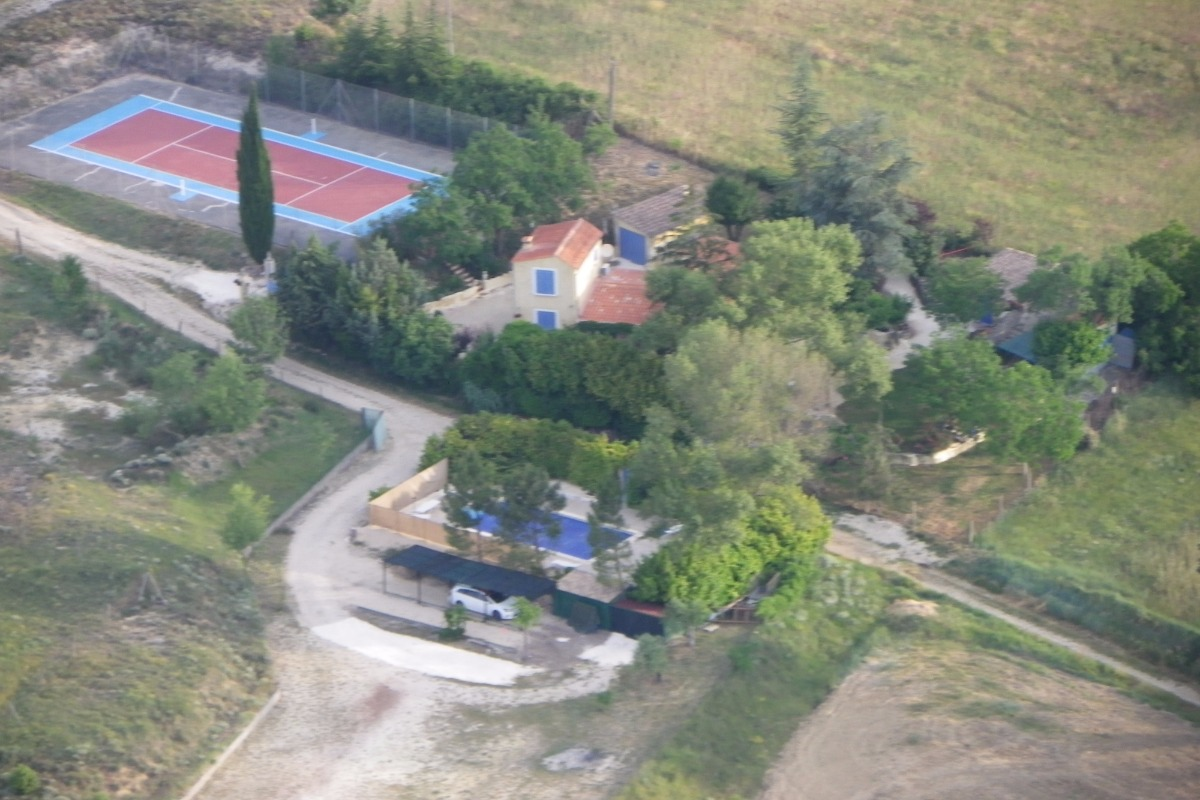 Vue de montgolfière - Location de vacances - Rochegude