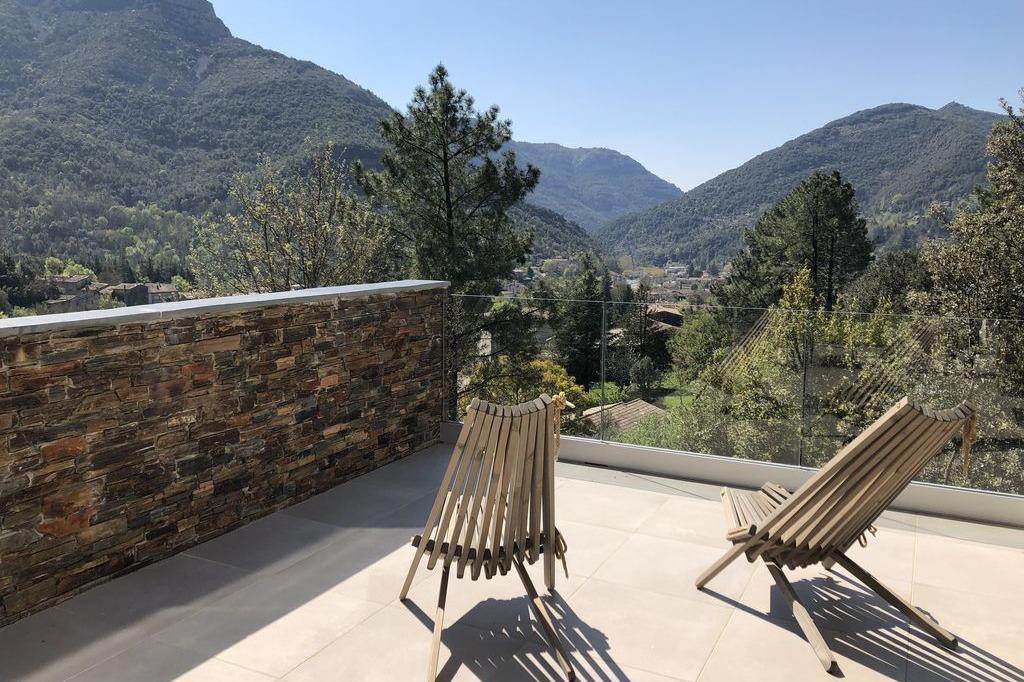 Vue de la terrasse - Location de vacances - Sumène
