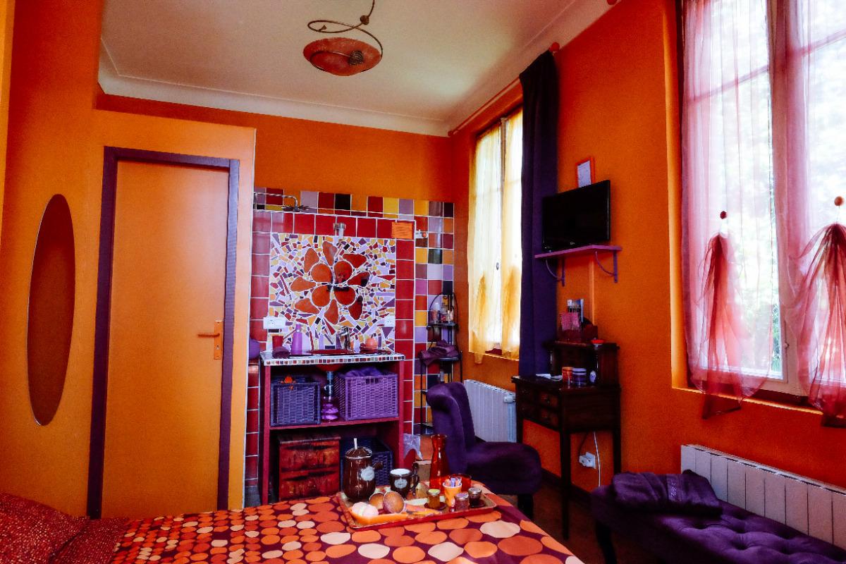 Villa des violettes-Toulouse-chambre Rapsodie-version chambre double - Chambre d'hôtes - Toulouse