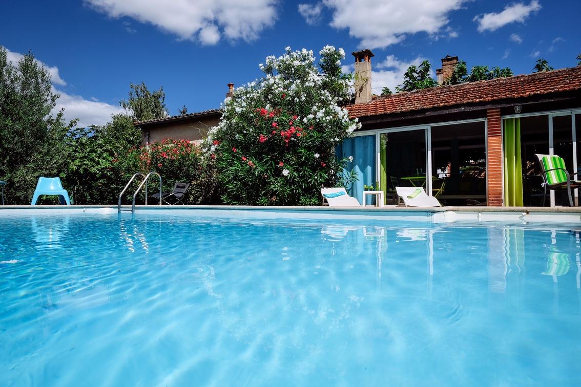 Villa des Violettes-Toulouse-chambre Rapsodie-piscine - Chambre d'hôtes - Toulouse