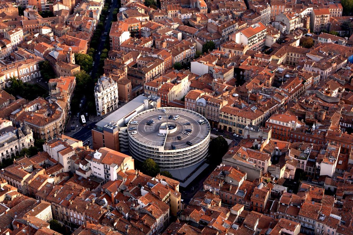 Vue aérienne quartier des Carmes - Location de vacances - Toulouse