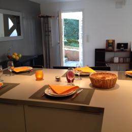 vue de la cuisine sur l'entrée - Location de vacances - Toulouse
