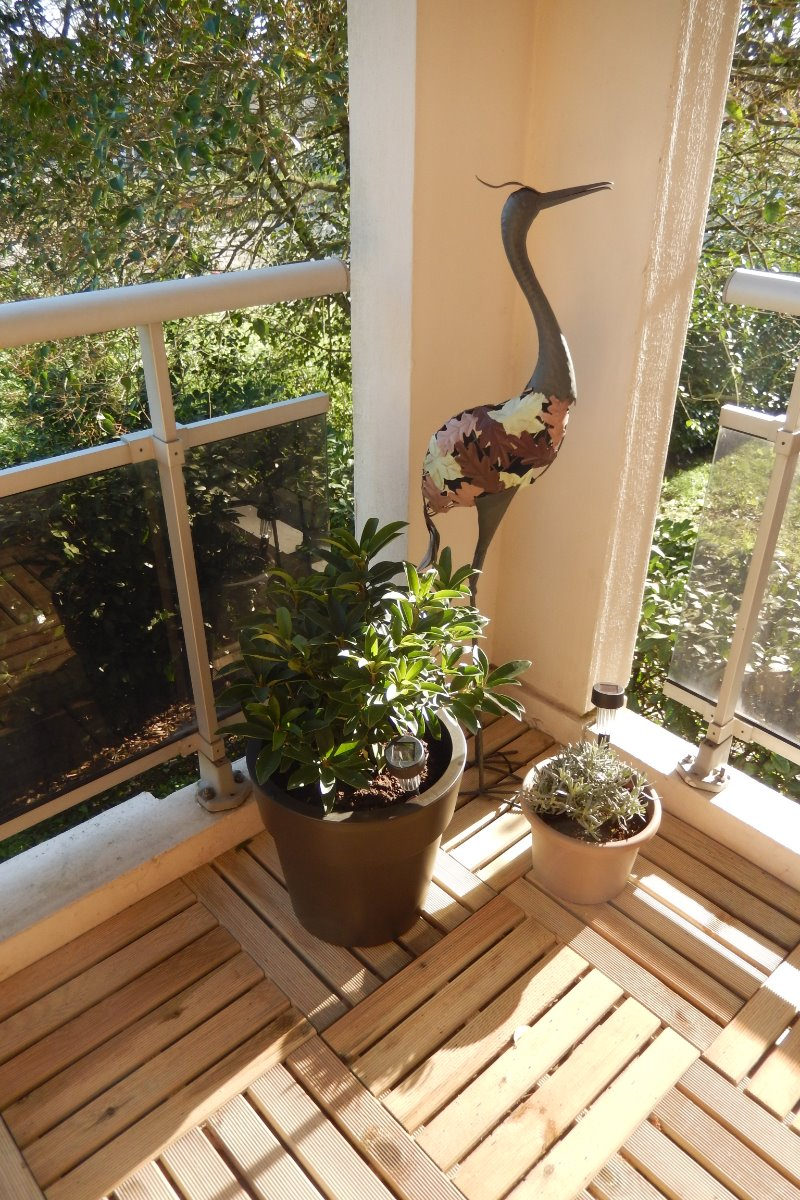 L'espace détente extérieur : le balcon du Monteverdi - Location de vacances - Muret