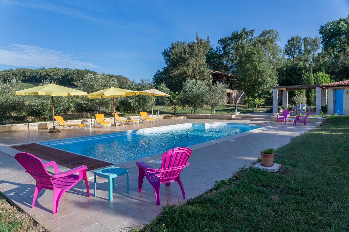 la piscine - Chambre d'hôtes - Castéra-Verduzan