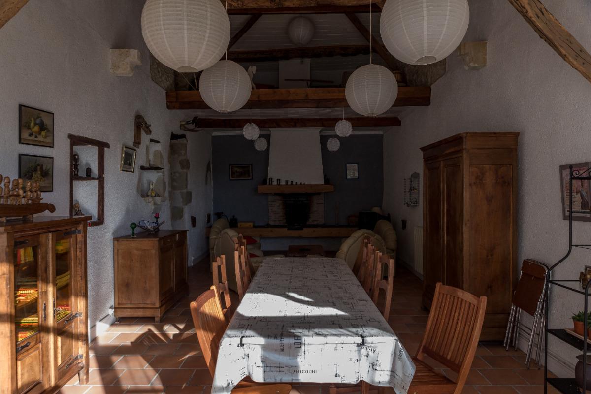la piece de vie commune - Chambre d'hôtes - Castéra-Verduzan