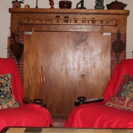 salon avec cheminée - Location de vacances - Goutz