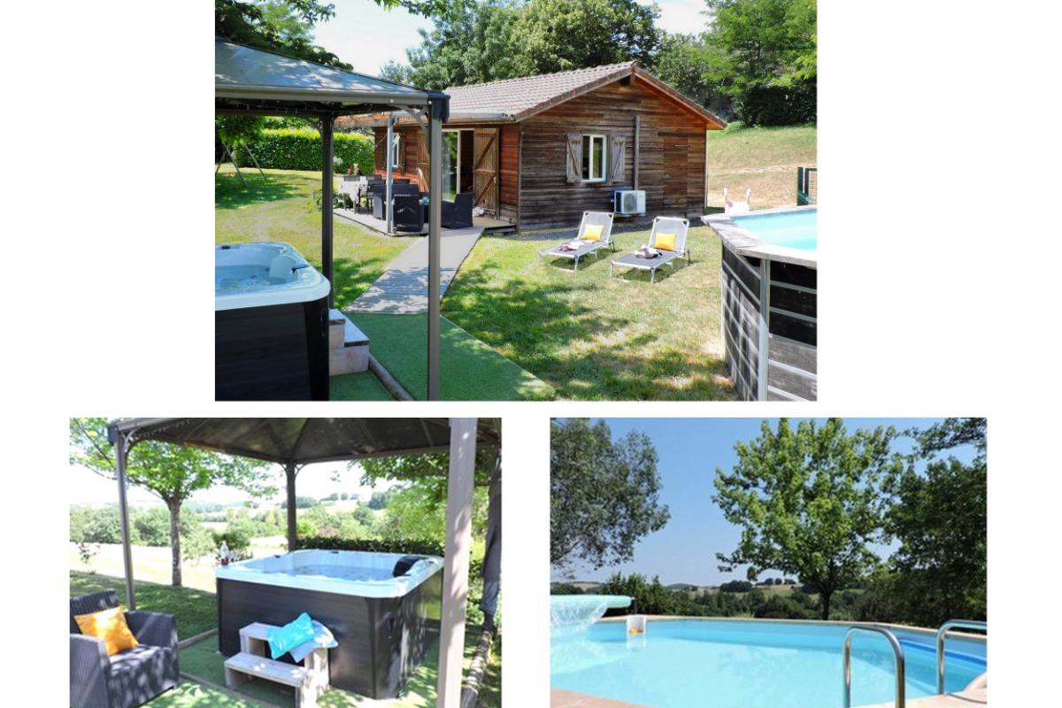 Chalet Mélèze - Piscine et spa privatifs - Location de vacances - Peyrusse-Grande