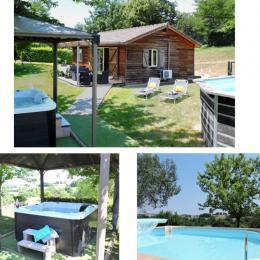 Gite avec piscine - Location de vacances - Peyrusse-Grande