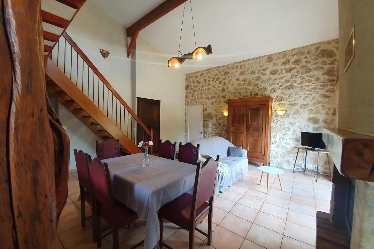 Salle à manger salon - Location de vacances - L'Isle-de-Noé