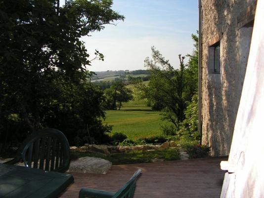 vue sur la vallée - Location de vacances - Lectoure
