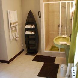 Salle de bain Chambre du Poète - Chambre d'hôtes - Aignan
