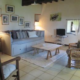 salon avec canapé convertible 160x200cm - Location de vacances - Bazian