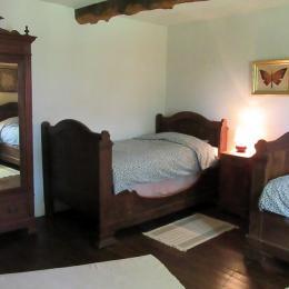 Chambre  avec lit 160x200cm, canapé et bibliothèque - Location de vacances - Bazian