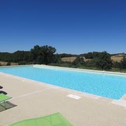la piscine - Location de vacances - Gondrin