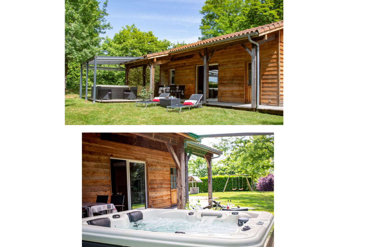 Barruérot Gîte n° 2 - Parc, Jacuzzi privatif, Terrasse couverte. - Location de vacances - Peyrusse-Grande