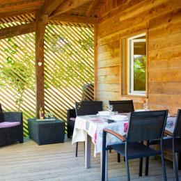 Séjour avec cuisine - Location de vacances - Peyrusse-Grande