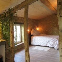 Coin salon gîte LA BASCULE - Location de vacances - Montesquiou