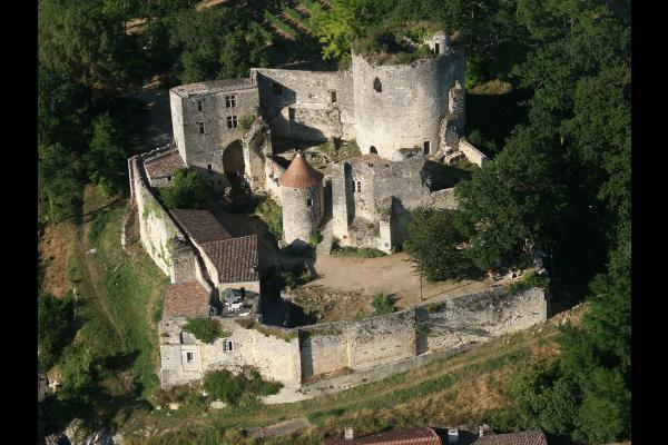 Vue aérienne du château - Chambre d'hôtes - Langoiran