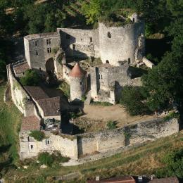 Vue sur la vallée de la Garonne depuis la suite du Châtelet - Chambre d'hôte - Langoiran
