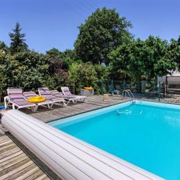 piscine protégée en partie ombragée - Location de vacances - Andernos-les-Bains