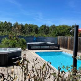 piscine et jacuzzi de nuit - Location de vacances - Grayan-et-l'Hôpital