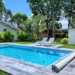 accès direct piscine au sel chauffée depuis la location - Location de vacances - Andernos-les-Bains