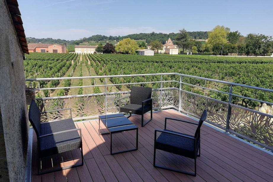 Terrasse panoramique de l'Annexe du gîte - Location de vacances - Saint-Hippolyte