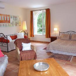La piscine devant le parc et la campagne - Chambre d'hôtes - La Sauve
