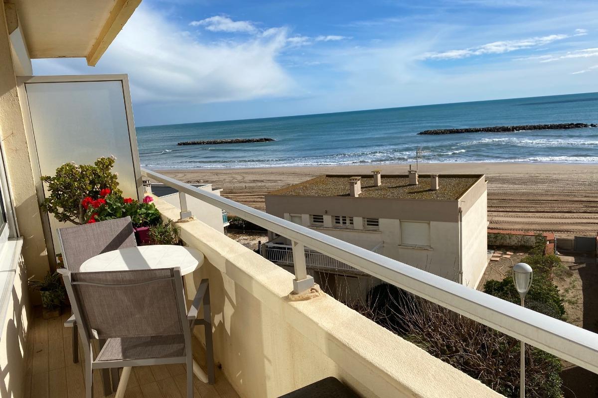 pleine vue mer de la chambre 1 - Location de vacances - Valras-Plage