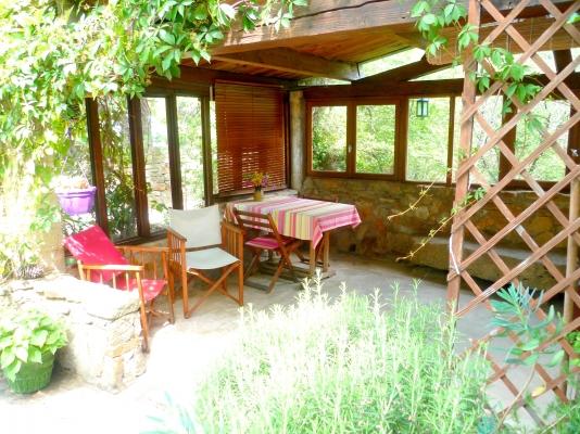 Terrasse couverte - Location de vacances - Saint-Privat